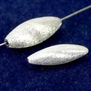 Argento 925 oliva spazzolato 21×8 o 20×6 mm
