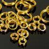 Spaltringe Schlüsselringe Metall Farbauswahl Ø 4 – 8 mm 20 Stück - gold, 4mm