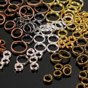 Spaltringe Schlüsselringe Metall Farbauswahl Ø 4 – 8 mm 20 Stück