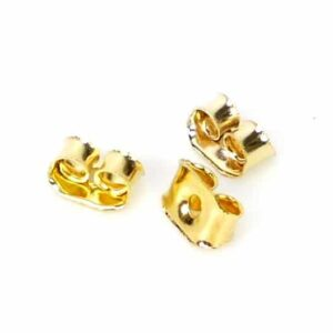 Ohrringstöpsel Stopper Metall gold Ø 5×3 mm 20 Stück