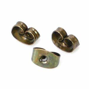 Ohrringstöpsel Stopper Metall messing Ø 5×3 mm 20 Stück
