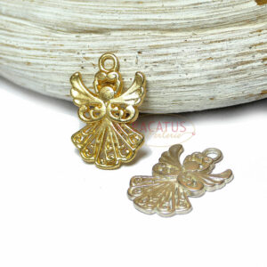 Anhänger Engel Metall, matt gold oder silber 20 x 14 mm 1 Stück