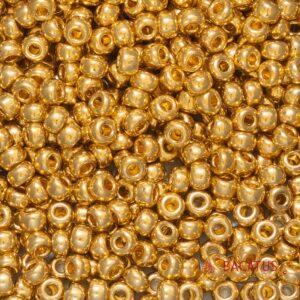 Miyuki Rocailles 6-191 24kt gold plated 5g