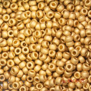 Miyuki Rocailles 6-191F matte 24k gold plated 5g