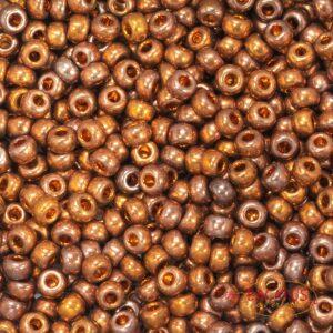Miyuki Rocailles 6-1984 24kt red gold iris 5g