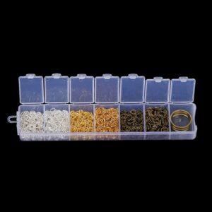 Binderinge Ösen Biegeringe Set 2 Größen, 3 Farben + praktische Sortierbox