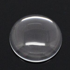 Klebstein Cabochon Glas transparent Größenauswahl