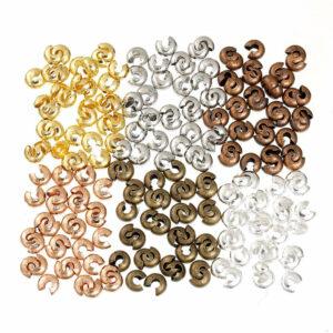 Perles de plastification de couverture à écraser Mix 2 tailles, 6 couleurs