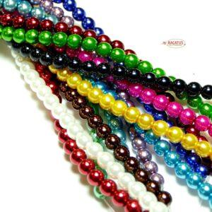 Glasperlen Czech Beads 2 – 8 mm Farbauswahl, 1 Strang