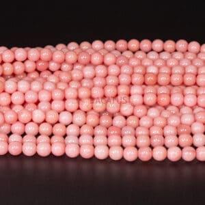 Jade Kugel glanz rosa 6mm, 1 Strang