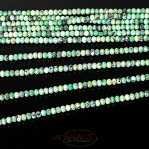 Variscit Rondelle facettiert grün ca. 2x3mm, 1 Strang
