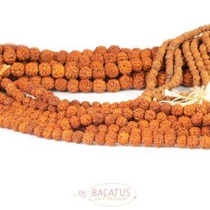 Rudraksha rot Mala 4 – 10 mm, 1 Strang