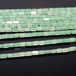 Aventurin Quader grün transparent ca. 2x4mm, 1 Strang