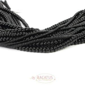 Onyx Rondelle Größenauswahl schwarz, 1 Strang