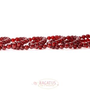 A-Grade Granat Kugel glanz ca. 8mm, 23 Perlen
