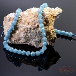 AAA grade aquamarine plain round gloss 8mm, 1 strand