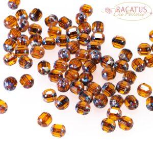 Böhmische Glasperlen Barock 6 und 8 mm braun