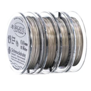 (1.19-1.99 € / m) Jewelry wire, stainless steel silk ✓ professional 19 strands