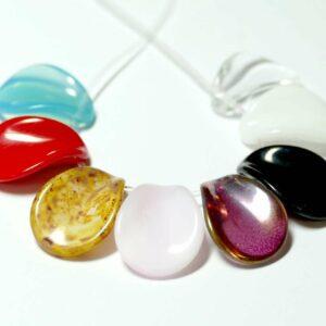 Böhmische Glasperlen Blatt ca. 22 x 16 mm Farbauswahl