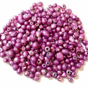 Glasperlen Formenmix pink, 1 kg
