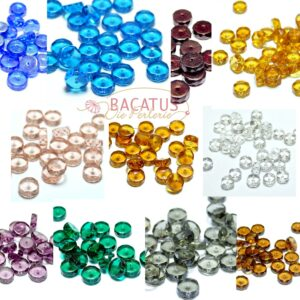 Böhmische Glasperlen facettierte Rondelle 8-14 mm Farbauswahl, 10 Stück