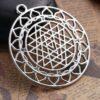 Pendentif en métal-Sri-Yantra-44x39-si