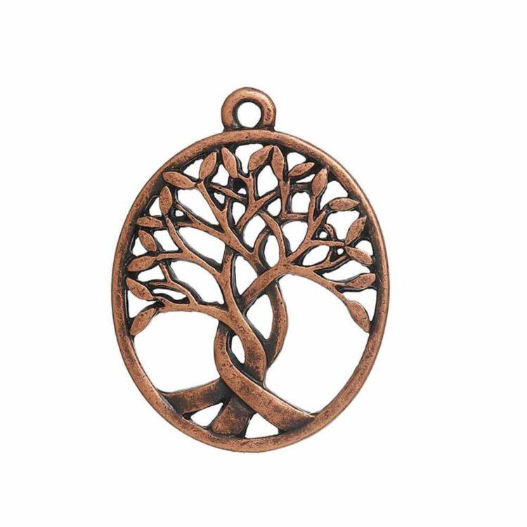 Metallanhänger-lebensbaum-bronze