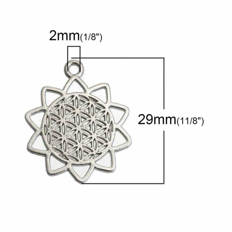 Metallanhänger-lebensblume-si