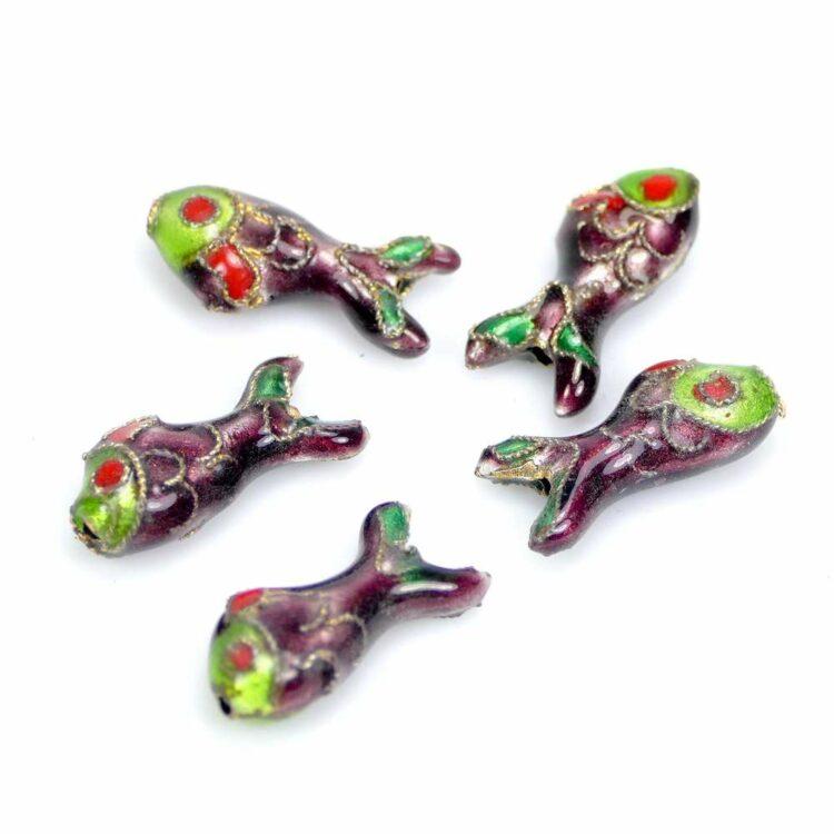 Metallperle-fisch-lila