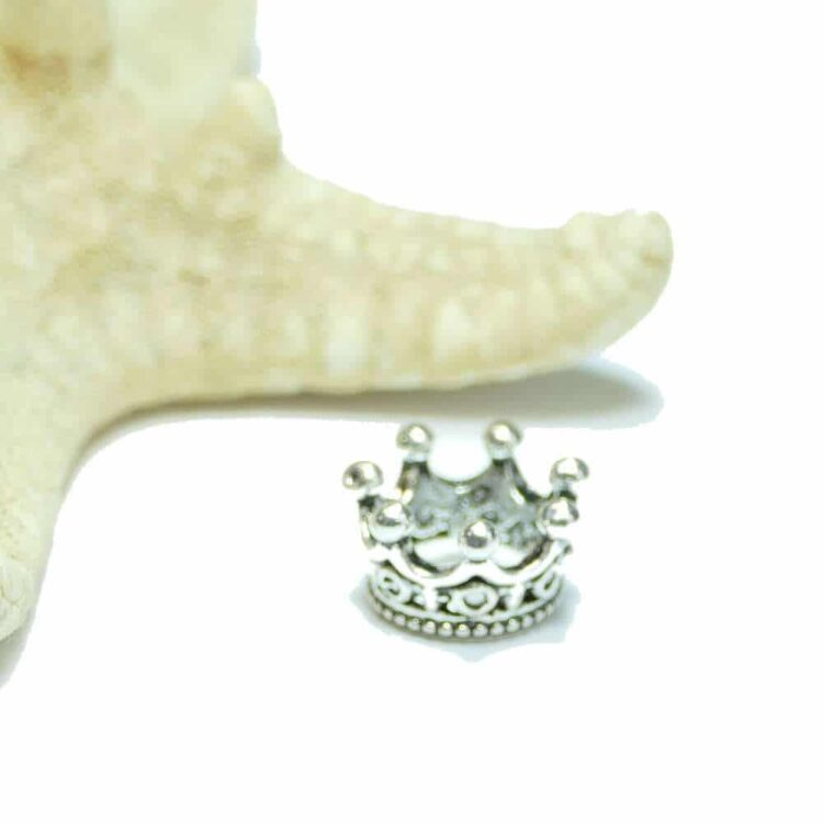Métal-perle-couronne-si