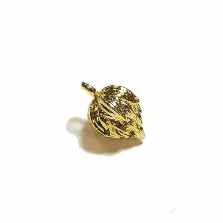 Metallperle-lotusblume-12x8-go