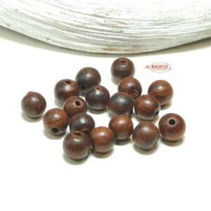 Rosenholz Perle Mala 6 – 10 mm, 10 Stück