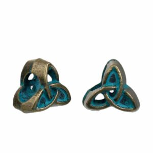 Metal bead spacer celtic knot 10x10mm brass patinated