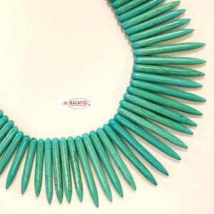 Perle de pierre épingles turquoise 19-50 mm, 1 fil
