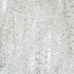 Perline SuperDuo Twin 2,5 × 5 mm Crystal (00), 1 filo