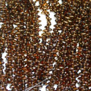 Perline SuperDuo Twin 2,5 × 5 mm Dark Topaz Semi Bronze Luster (25), 1 filo