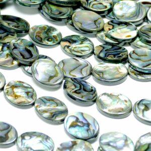 Abalone Perlmutt oval Größenauswahl, 1 Strang