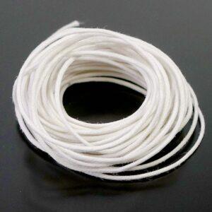 (0,15-0,3€/m) Gewachste Baumwollkordel 1,0 mm