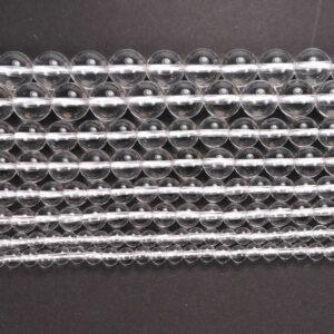 A-Grade Bergkristall Kugel glanz 2 – 16 mm, 1 Strang