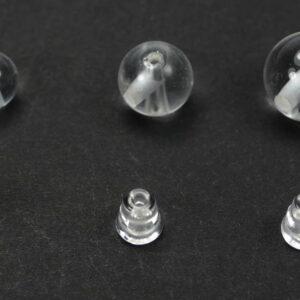 Guru Perle Bergkristall 8 – 12 mm, 2-teil. Set