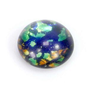 Böhmisches Glas Cabochon Erde 14×9 mm