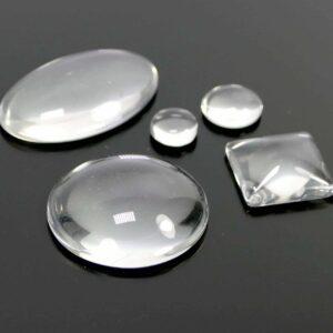 Verre cabochon cristal transparent sélection de taille