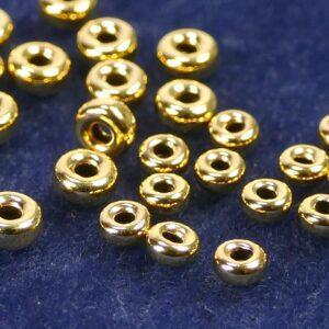 Anelli cavi argento 925 * placcato oro * Ø 4,5 – 5,5 mm 6 pezzi