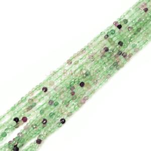 Fluorit Münzen facettiert 4 mm, 1 Strang