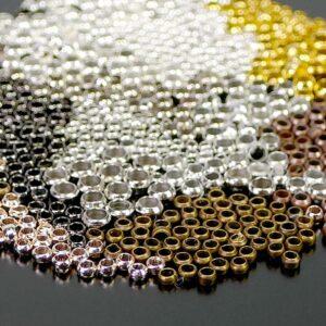 Crimps Crimps sélection de couleurs en métal 100 pièces