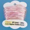 Nylon Satin Cord Ø 1 mm 10m (0,22€/m) - rosa