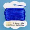 Nylon Satin Cord Ø 1 mm 10m (0,22€/m) - royalblau