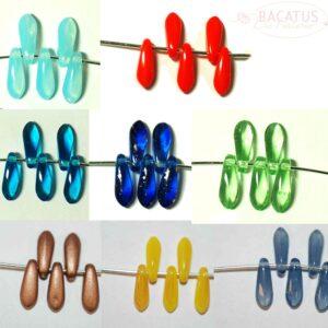 Dagger Beads / Dolchperlen 3 x 11 mm Farbauswahl, 15 Stück
