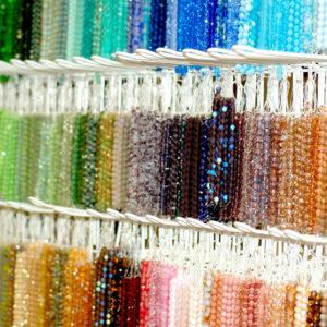 Czech Glasperlen Mix facettiert Farb- und Größenauswahl, 10 Stränge