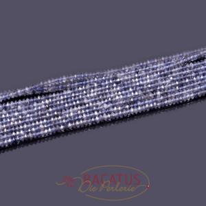Iolit facettierte Untertasse lila ca. 2x3mm, 1 Strang